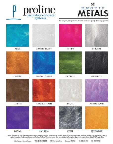 EXOTIC METALS Pigmentos metálicos para epóxicos