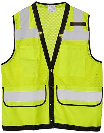 H13484 - Chaleco Seguridad con bolsas Color verde