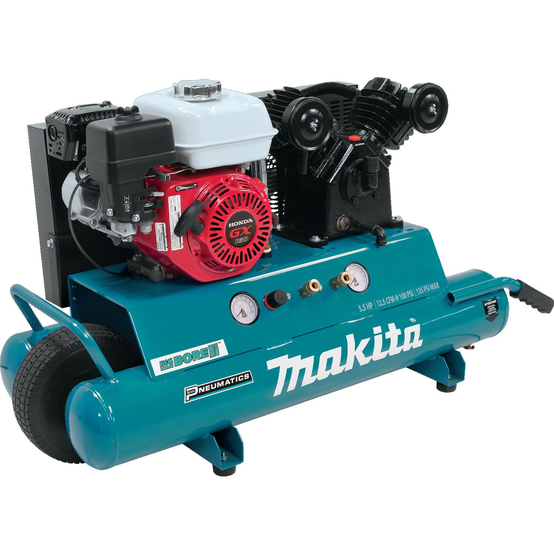 MAC5501G- Compresor motor Honda 5.5 H.P. presion 135 psi 37.8 lts de cap lubricado por aceite